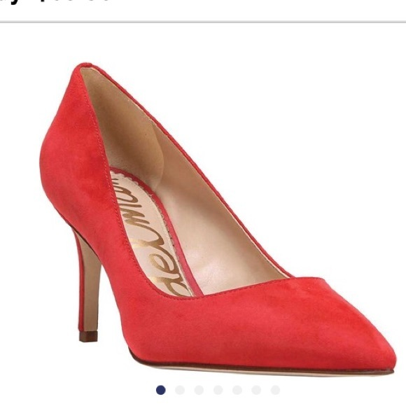 22f7a0577d98 Sam Edelman red Tristan pumps. M 5af81eb61dffda2bb84017e5